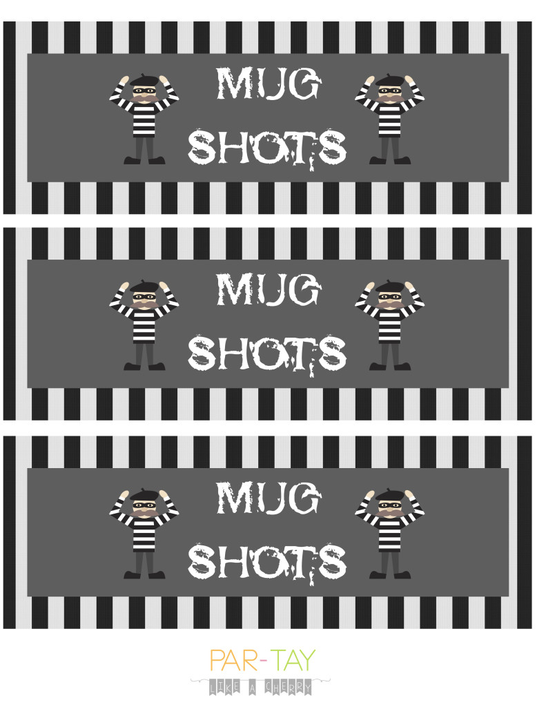 police party drink labels
