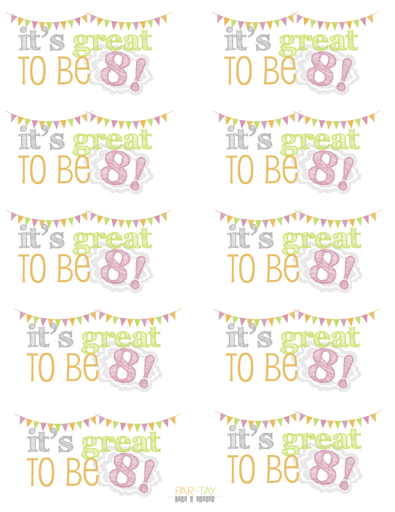 It's Great To Be 8! Birthday Party & Baptism Ideas