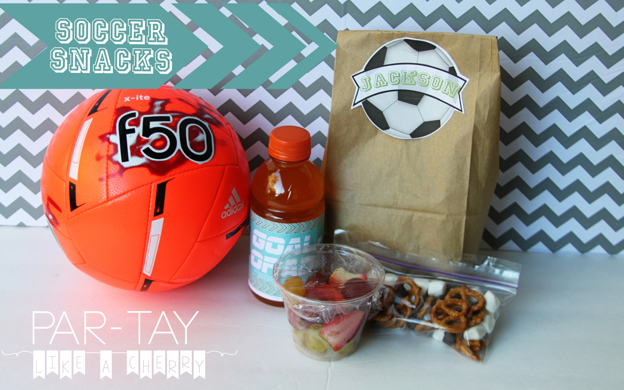 Soccer Team Snack Printables - Party Like a Cherry