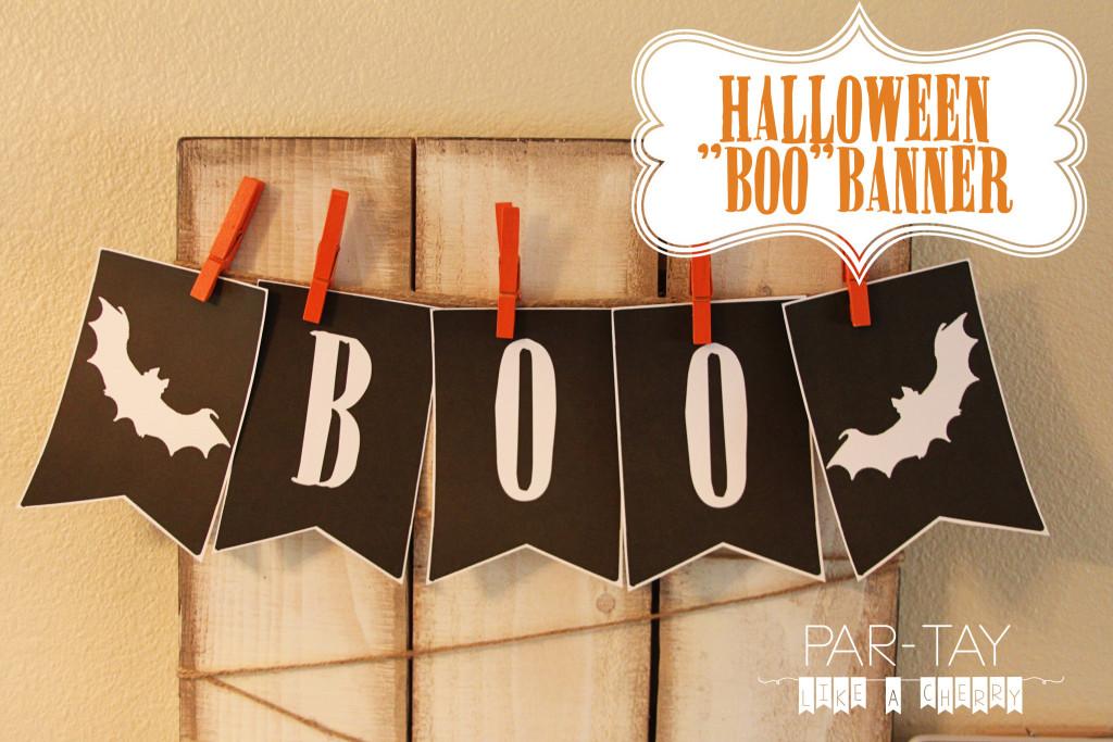 halloween boo banner free printable