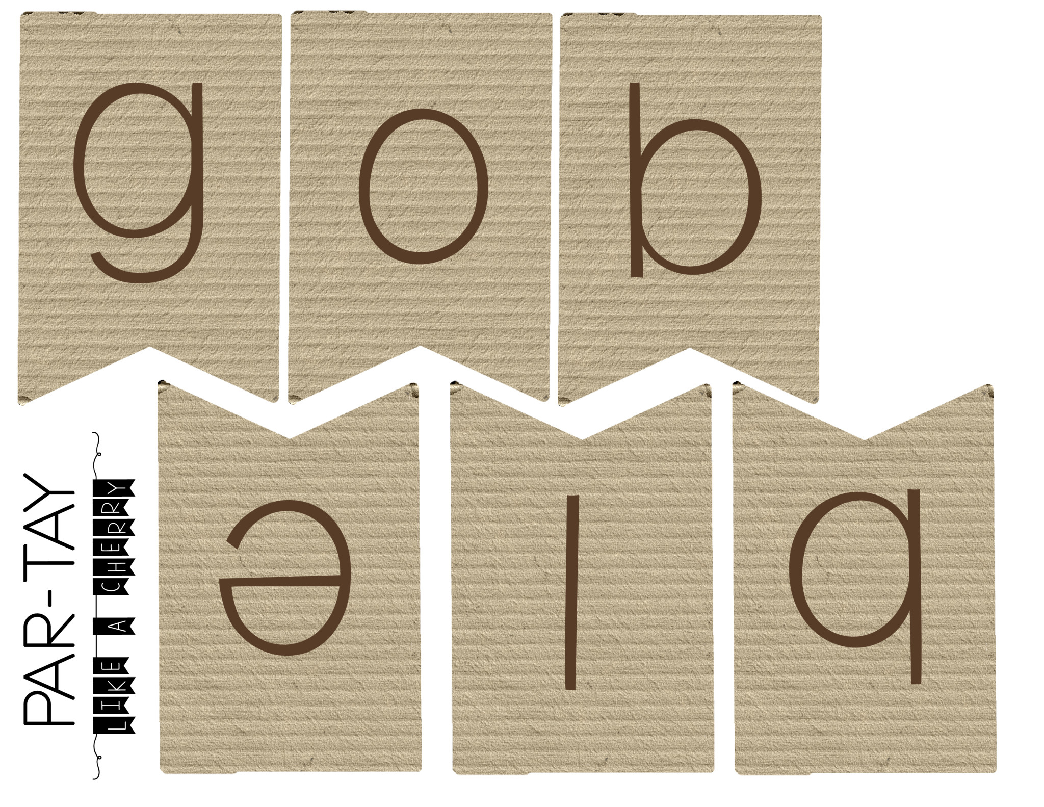 Gobble Gobble Mini Thanksgiving Banner - Party Like a Cherry