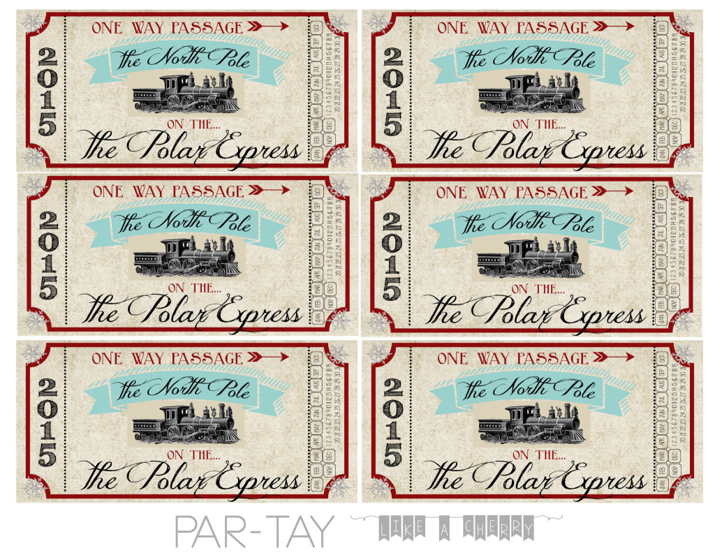 Polar Express Train Tickets Free Printable - Party Like a Cherry