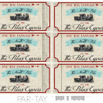 Polar Express Train Tickets Free Printable