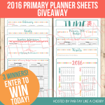 Primary Presidency Planner 2016 GIVEAWAY!