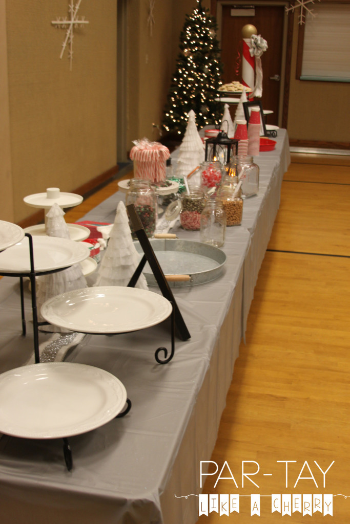 christmas party buffet table