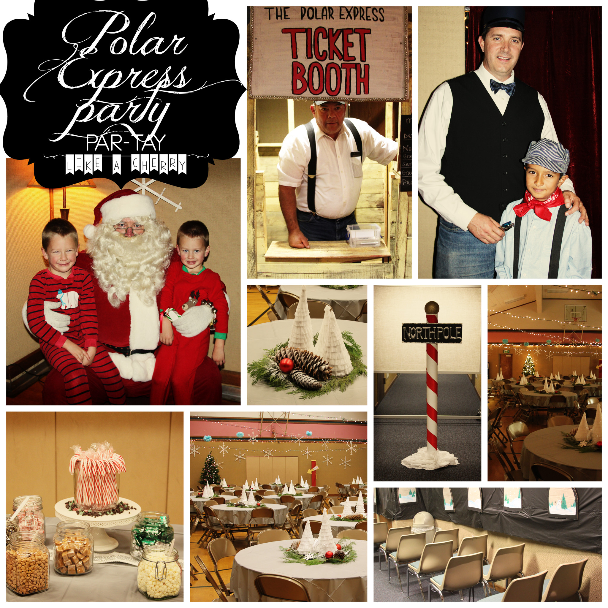 Lds Ward Christmas Party Ideas Part - 44: Polar Express Party Collage