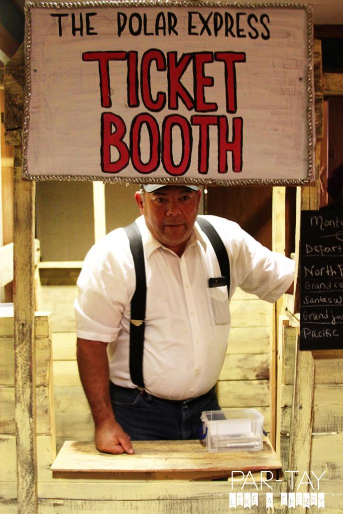 polar express ticket booth