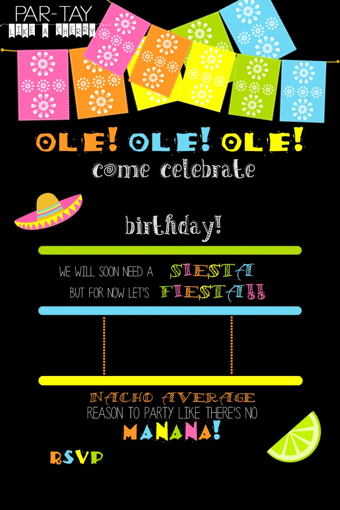 Party Invitation In Spanish is adorable invitation layout