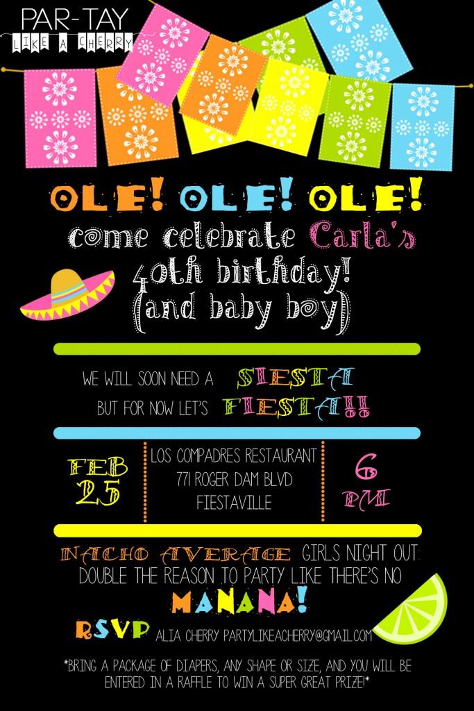free editable fiesta invitation