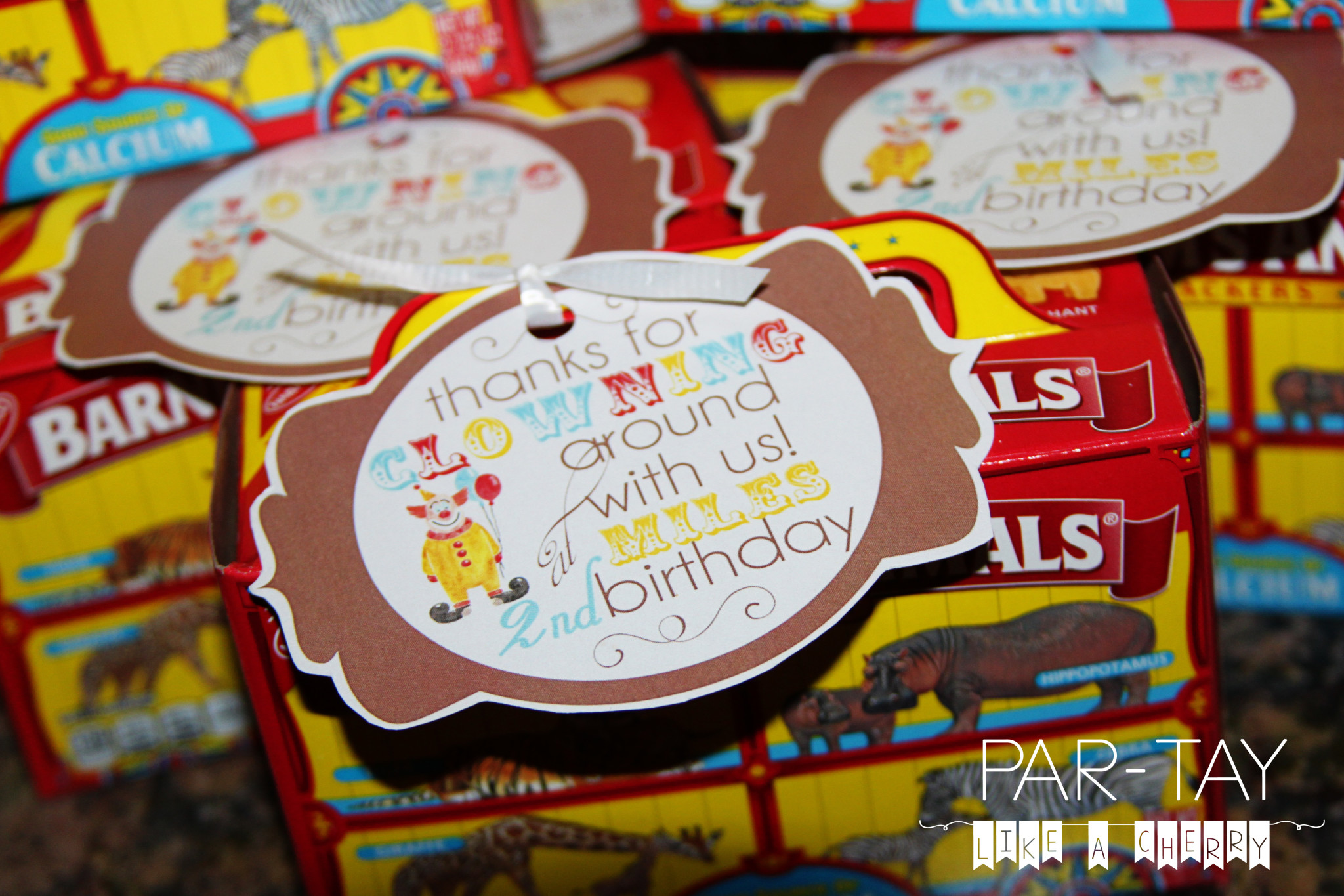 circus party favor idea and free printable