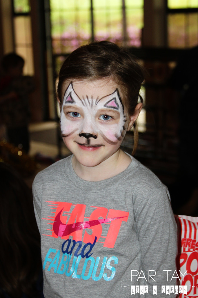 face painting at circus party