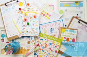 summer fun printable kit