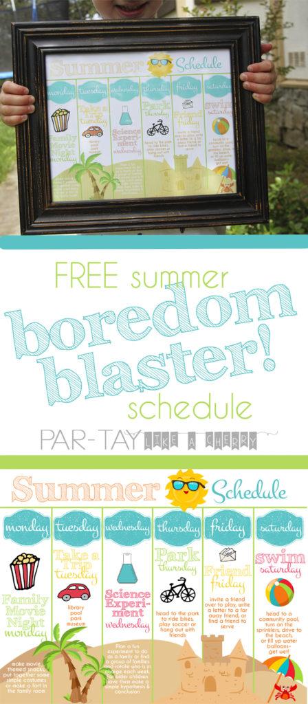 free summer boredom blaster schedule