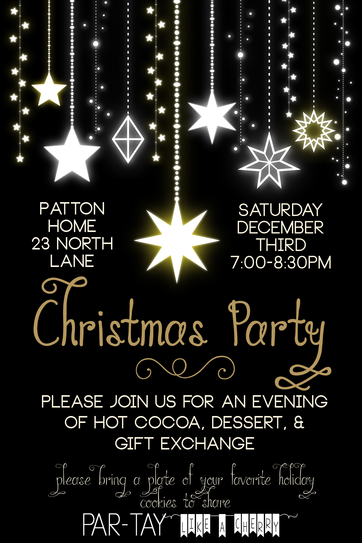 Free christmas party invitation party like a cherry for New year invite templates free