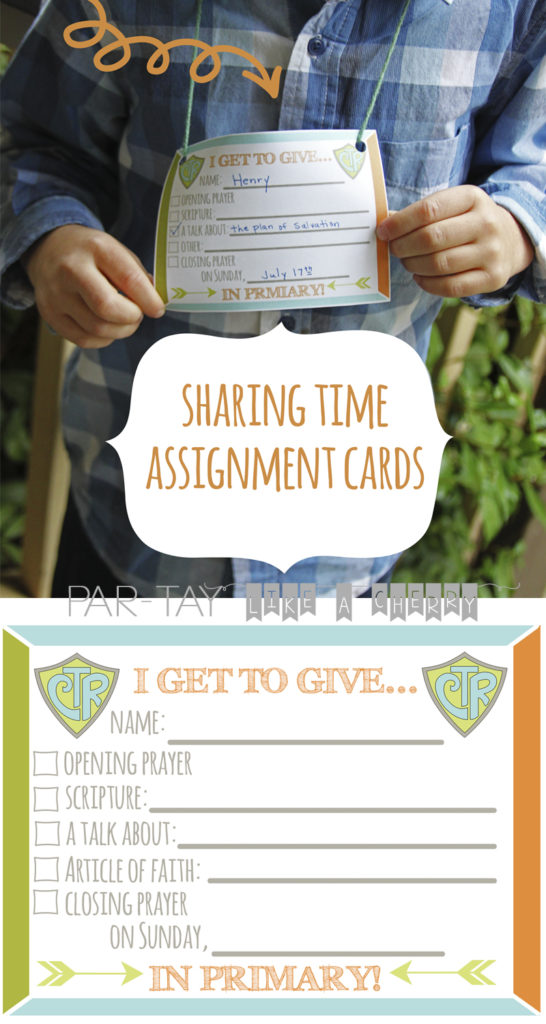 free printable primary sharing time assignment cards choose the right 2017
