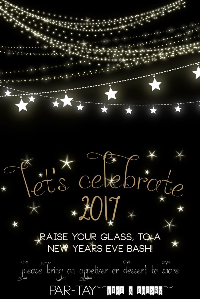 Free New Years Party Invitation Party Like a Cherry – New Year Invitation Template