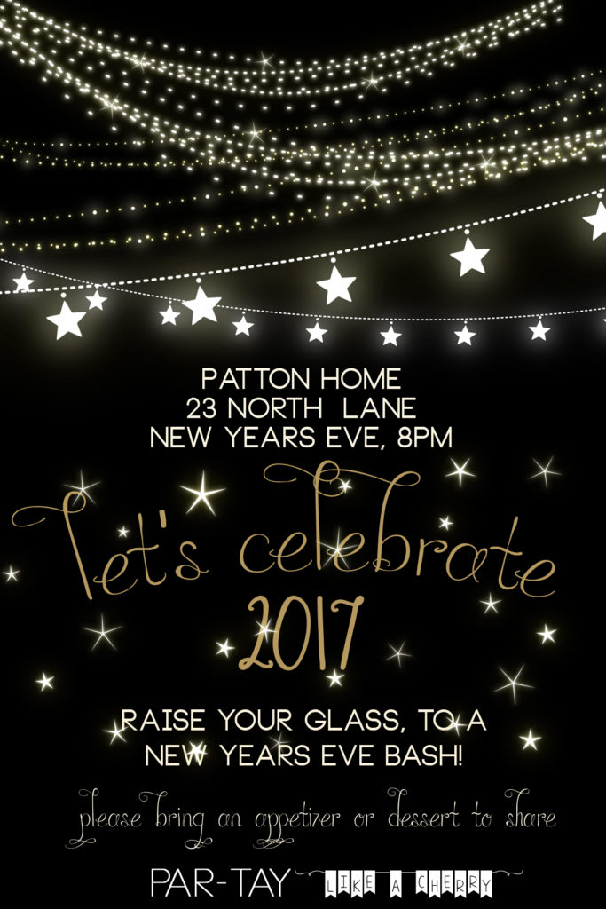 free new years party invitation template