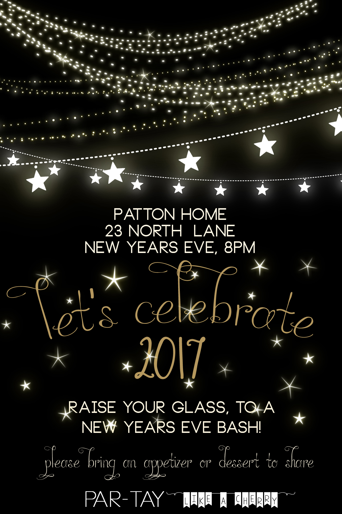 Free new years party invitation party like a cherry for New year invite templates free