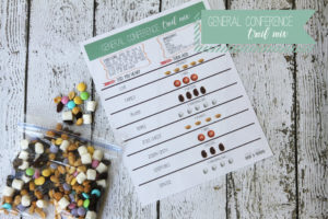 general conference trail mix recipe and activity