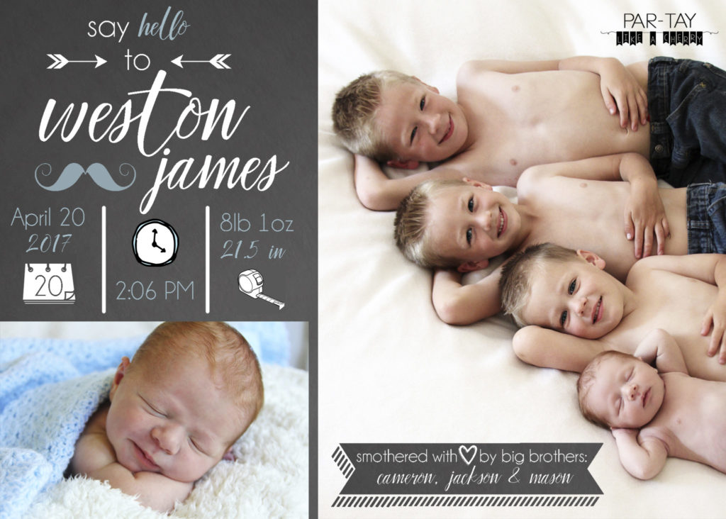 Birth Announcements Newborn Photography Party Like a Cherry – Photo Birth Announcement