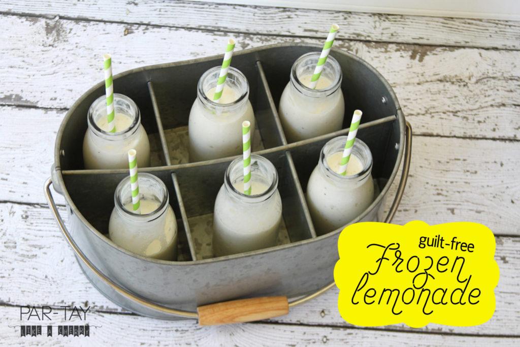 guilt free frozen lemonade helathy summer treat