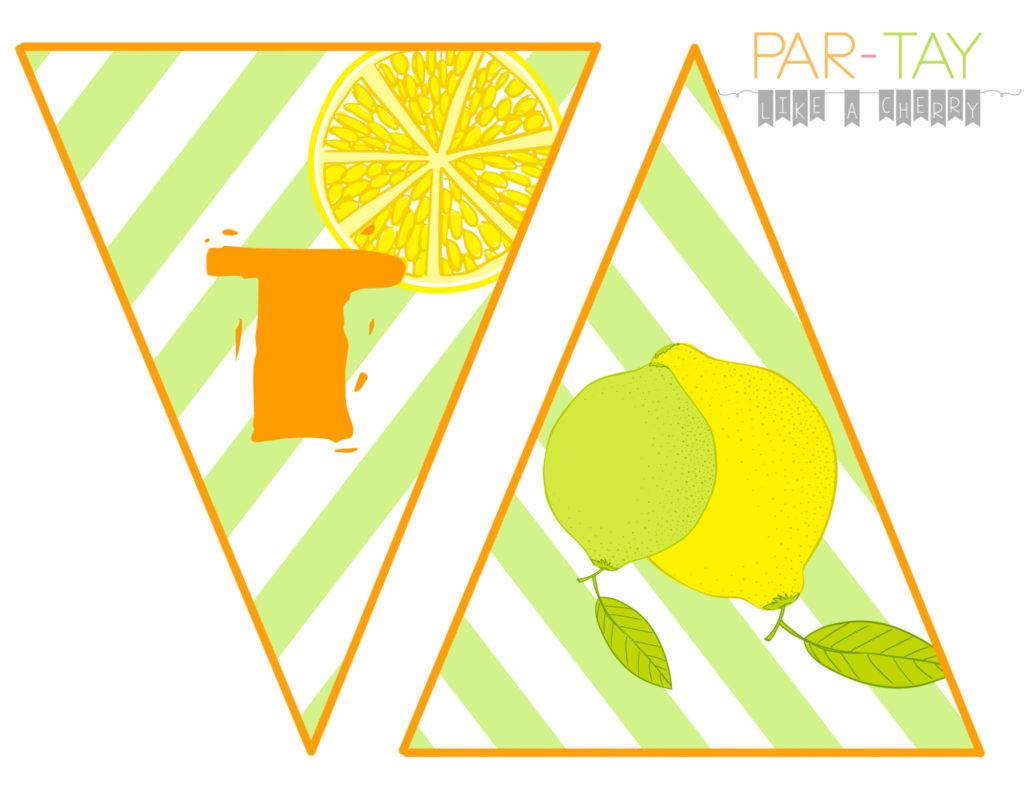 hot hot hot summer banner free printable lemon lime colors