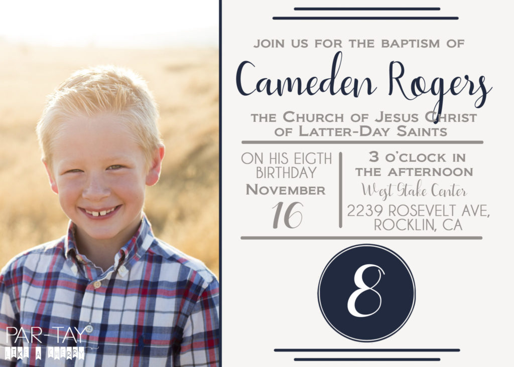 Free LDS Baptism Announcement Template - Party Like a Cherry