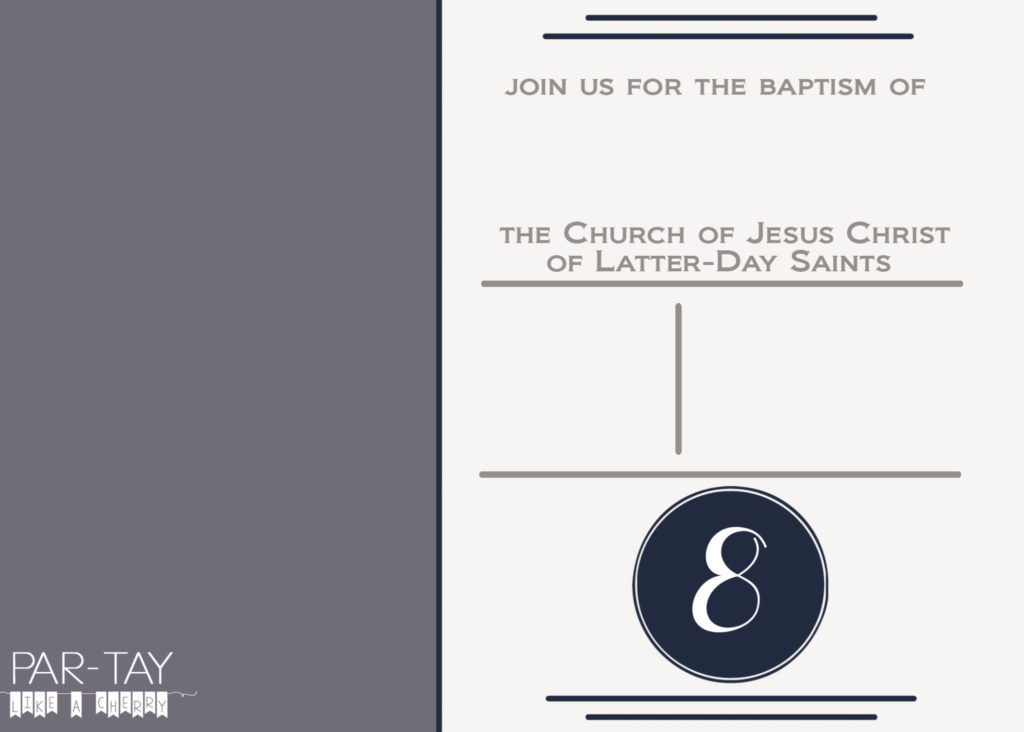 free LDS baptism invitation template, just download and add text and photo