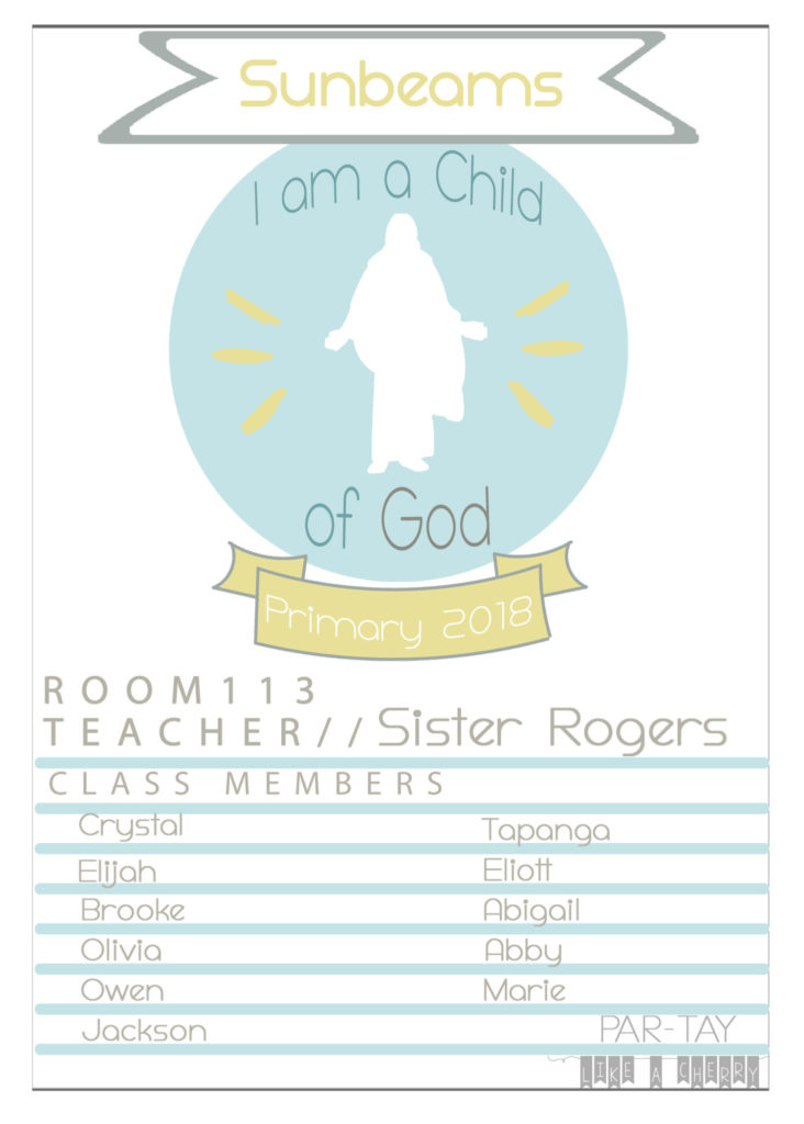 Primary 2018 Free Printable And Editable Door Signs I Am A Child Of God