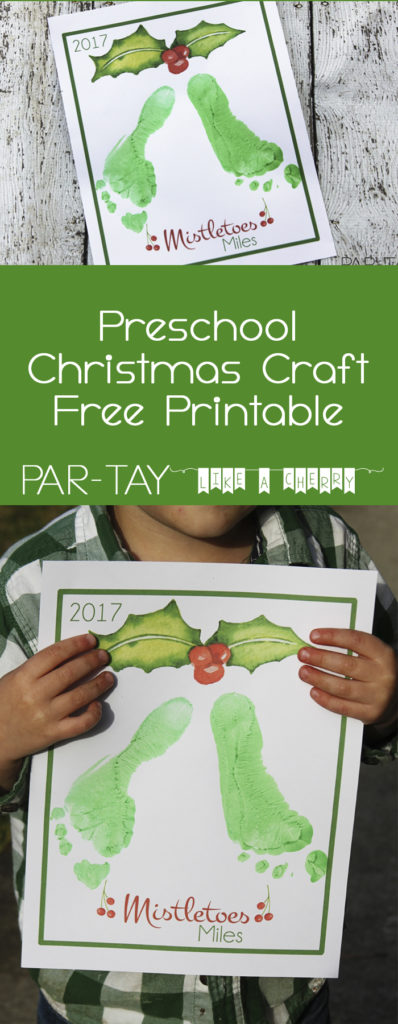 toddler christmas mistletoes craft free printable, great for newborns and toddlers! Tons of preschool christmas party ideas and tips