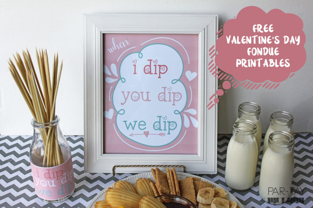 free fondue printables, perfect for valentines day, galentines day or any girls night!