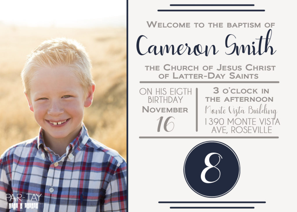 sign to display at LDS baptism entrance