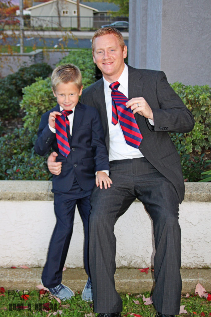 matching ties- cool LDS baptism tradition