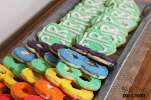 LDS baptism dessert idea with link to cookie cutters