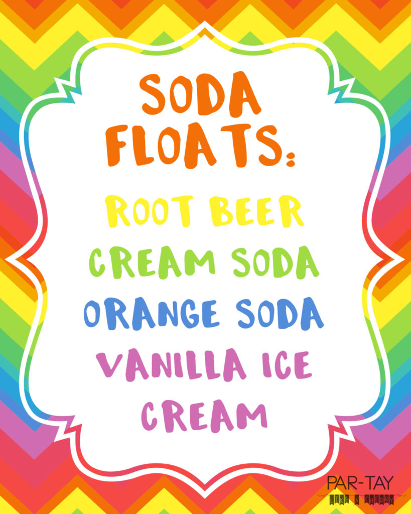 soda float free printables perfect for LDS baptism or great to be 8