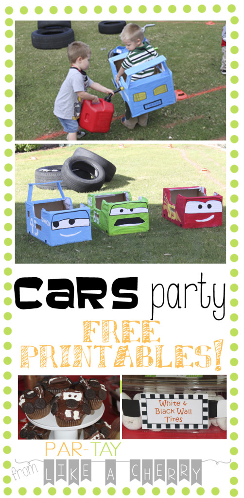 cars party pin