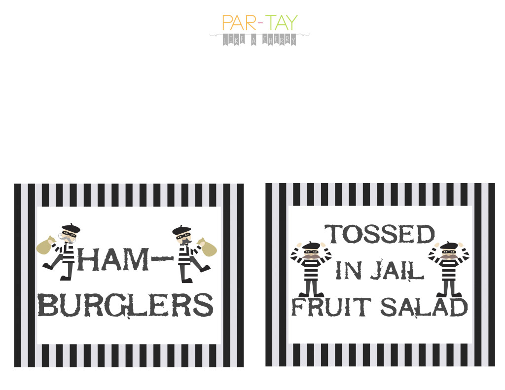 police party food labels
