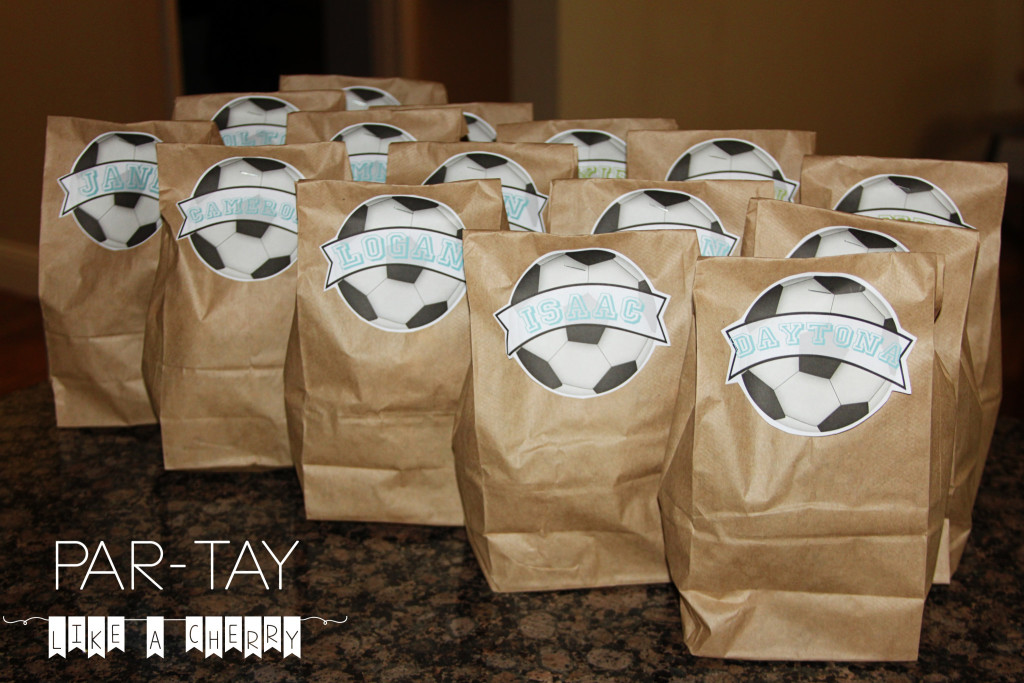 soccer snack bags