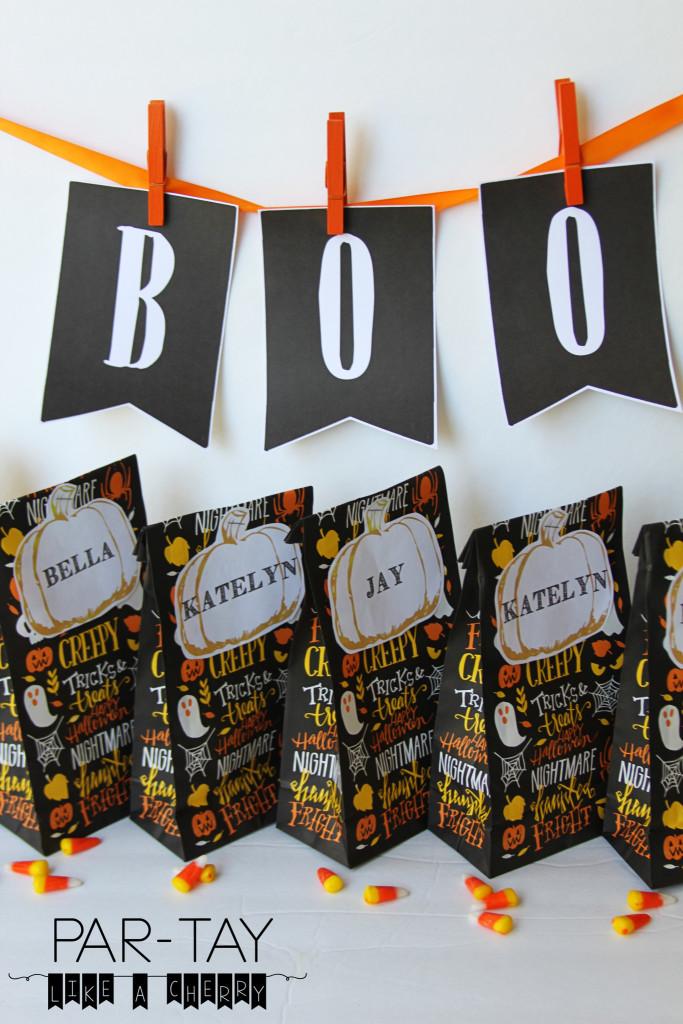 halloween pumpkin tags