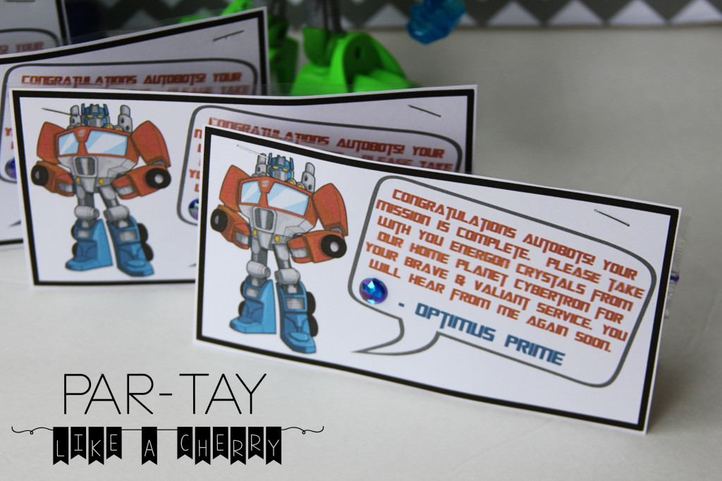 transformer party favors