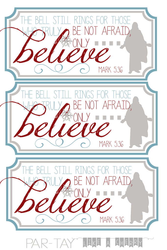 polar express bell tags 4X6