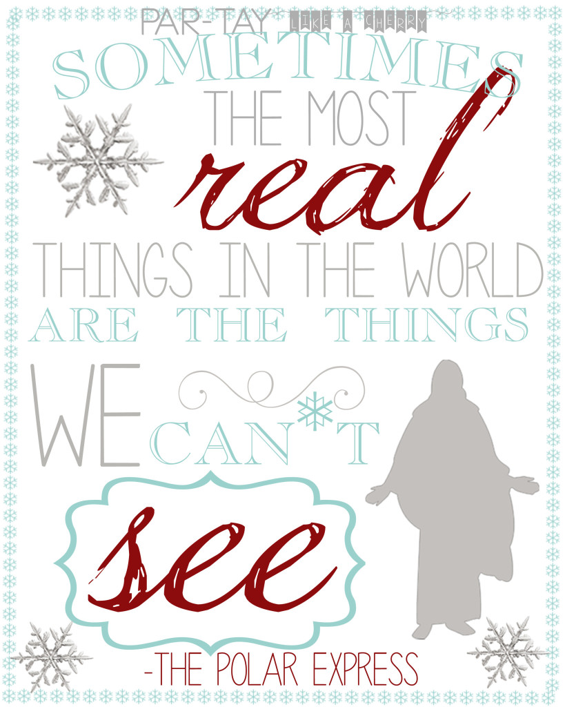 polar express quote free printable