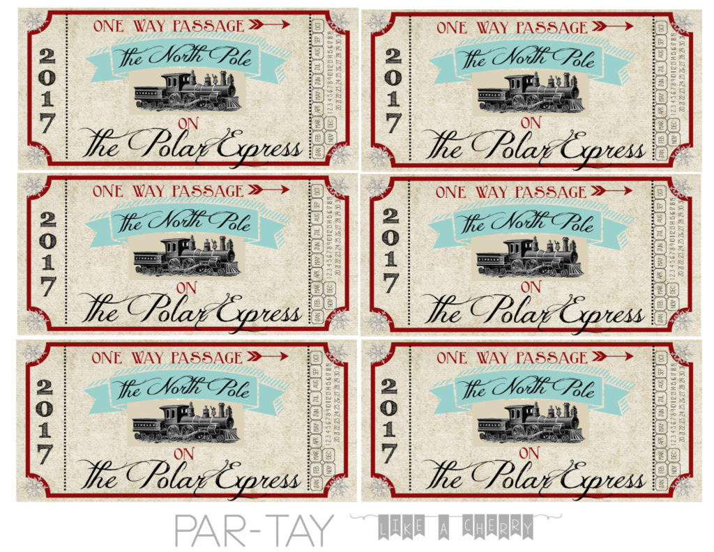 polar express tickets free printable and party ideas