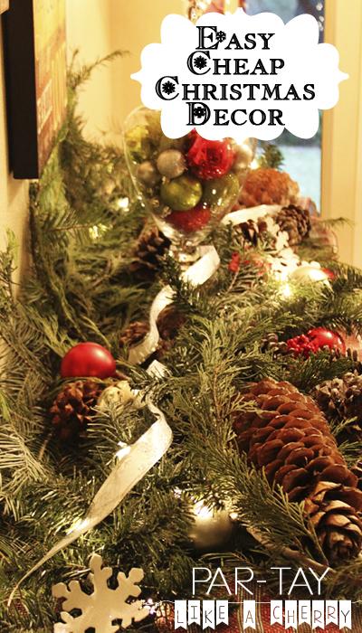 cheap & easy christmas decor ideas