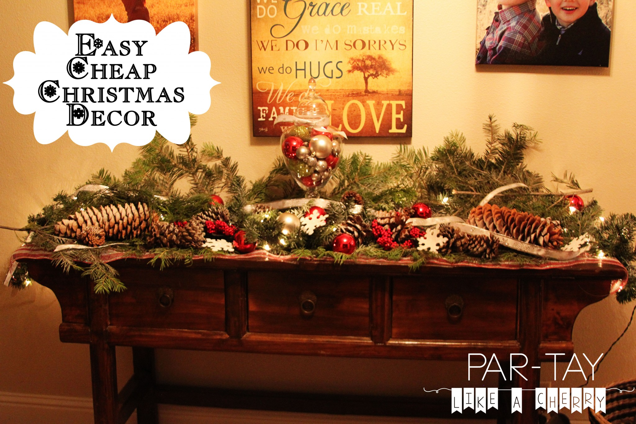 christmas decorating ideas - Christmas Decorations On The Cheap