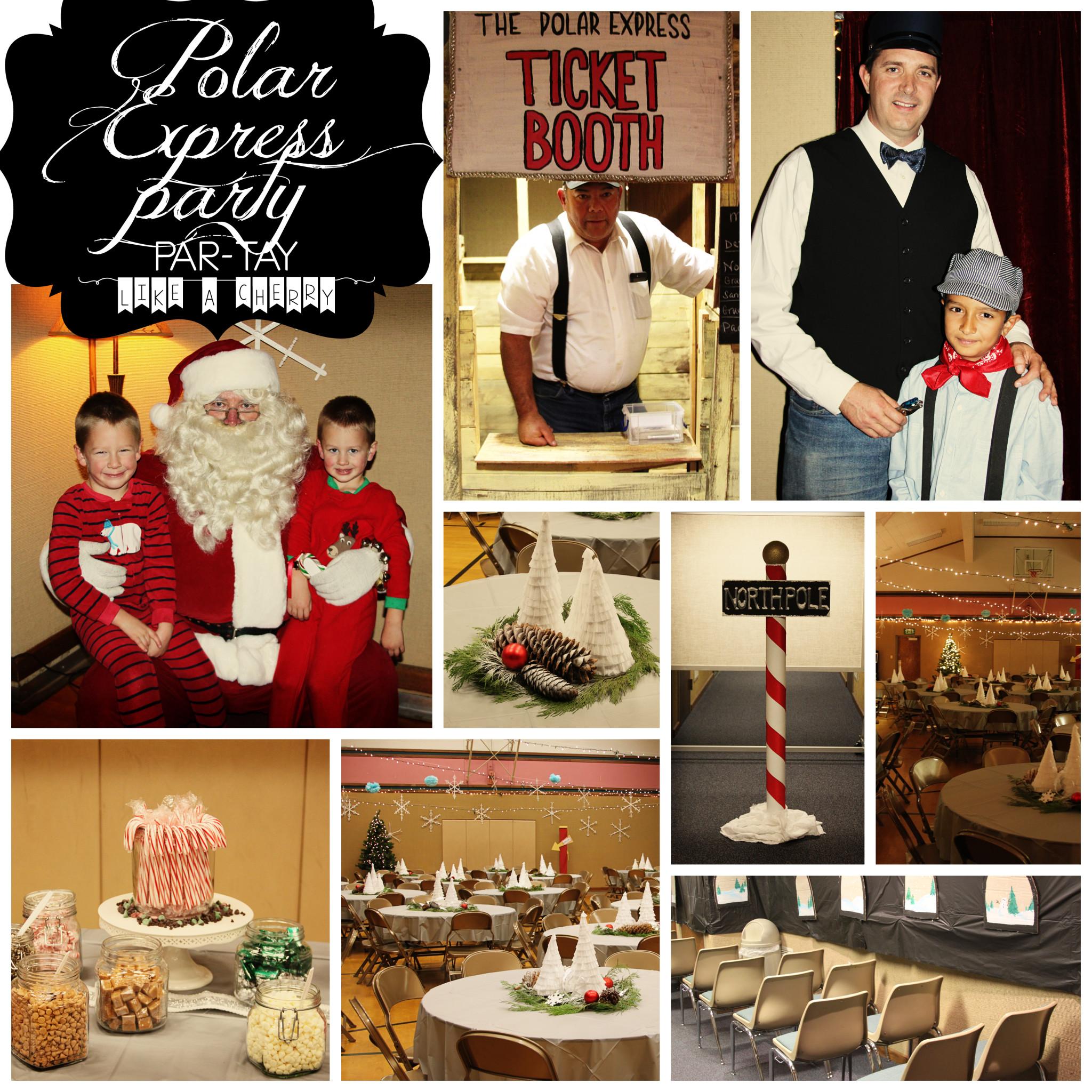 polar express party collage