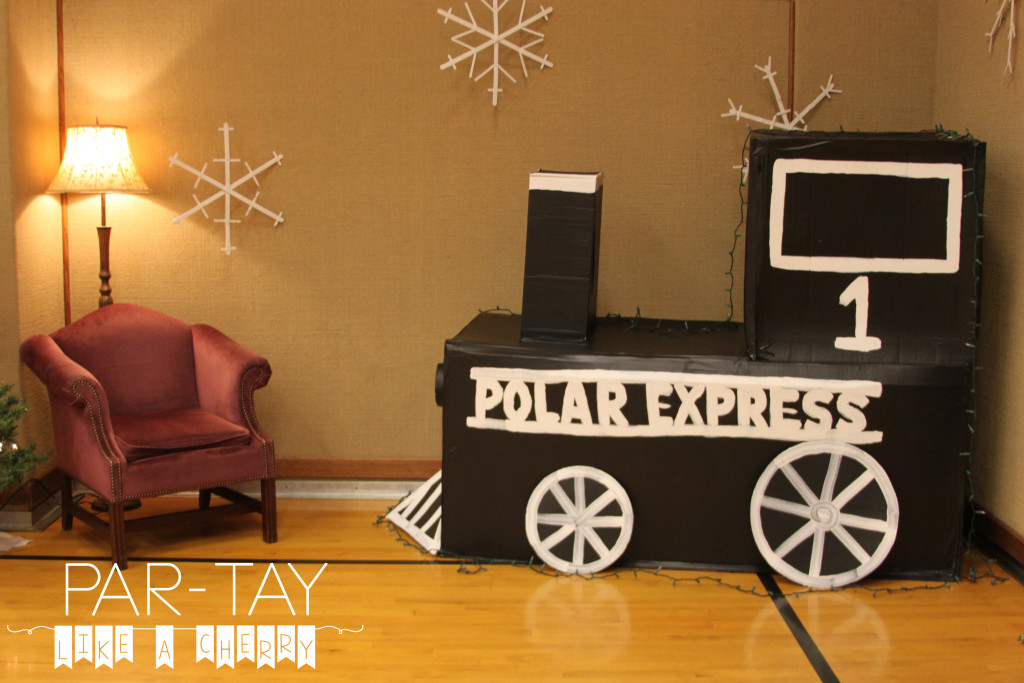 santa's corner polar express christmas party