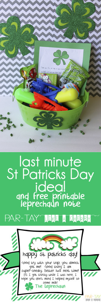 last minute st patricks day idea