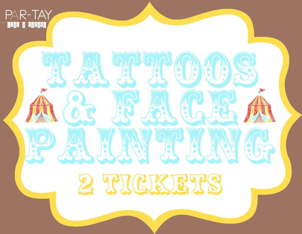 face painting circus party free printable party sign