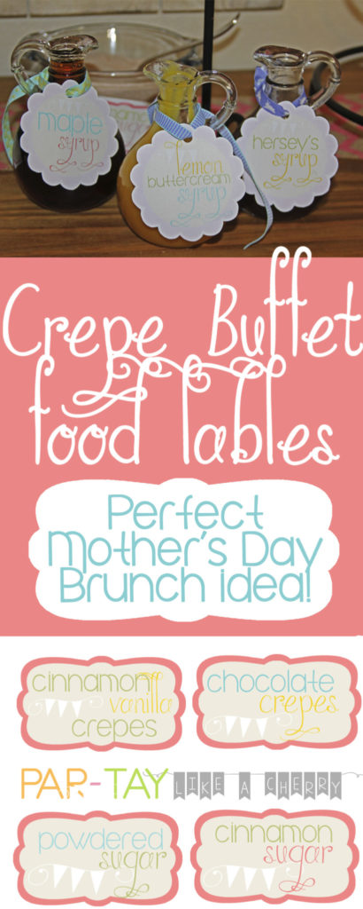 celebrate mothers day with a crepe buffet in her honor!